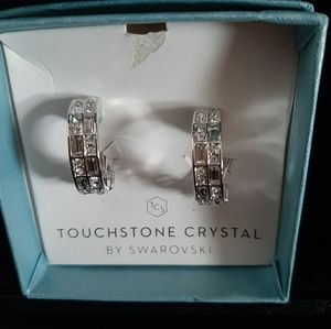 Touchstone Crystal clip on earrings